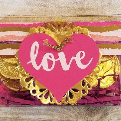 Valentine Acetate Card Box Idea