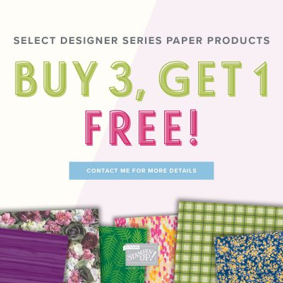 BUY 3, GET ONE FREE Designer Series Paper Promo