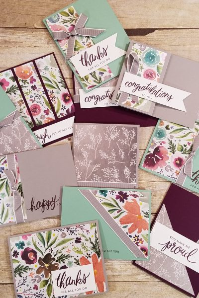 Stampin' Up! One Sheet Wonder Card Ideas