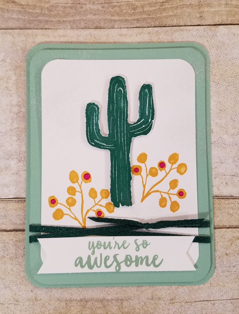 Flowering Desert Card Idea