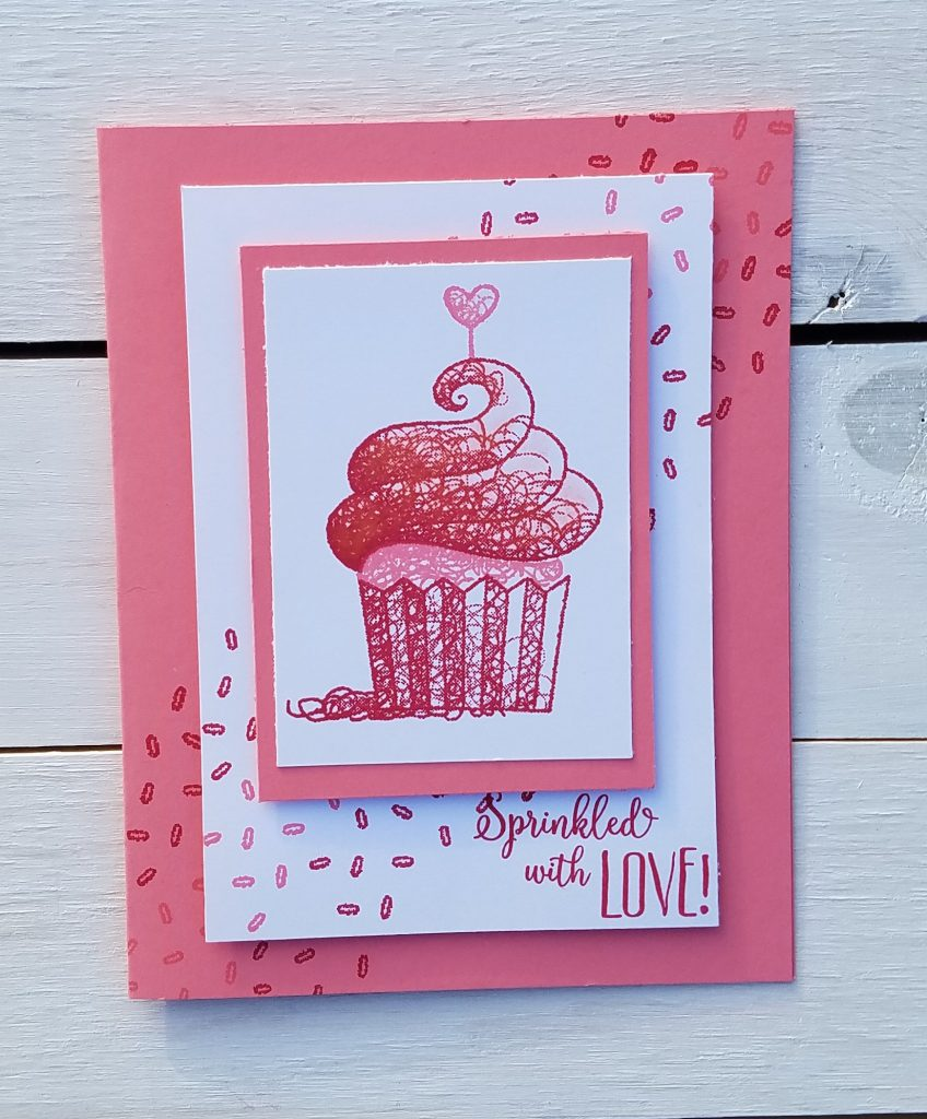 Hello Cupcake Stampin' Up! Sale-A-Bration SAB Valentine #simplestamping Jill Olsen StampingJill