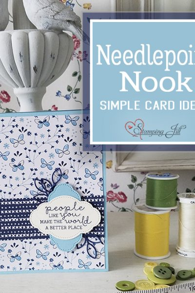 Needlepoint Nook Suite Needle & Thread Stamp Set StampingJill Stampin' Up! cardmaking #simplestamping