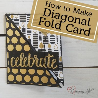 How To Make A Diagonal Fold Card