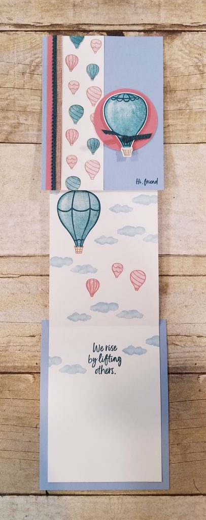 Above the Clouds Hot Air Balloon Punch Stampin' Up! StampingJill Jill Olsen Aubrey Paxton We rise by lifting others