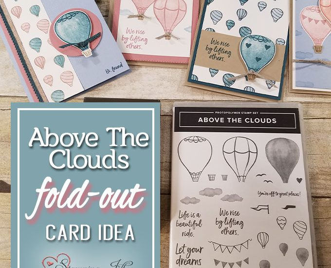 above the clouds fold out card idea