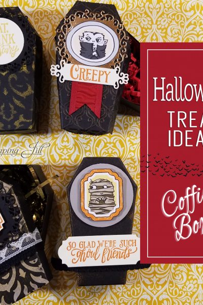 Halloween Treat Coffin Box Ideas Coffin Treat Boxes Monster Bash Ornate Frames Dies Halloween Stampin' Up! StampingJill Jill Olsen Aubrey Paxton