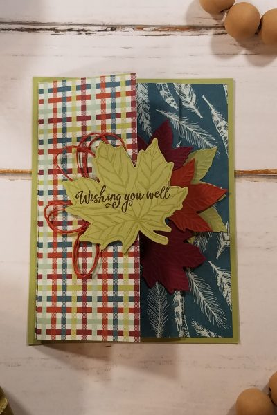 Fall Fun Fold Card Idea Come to Gather Stampin' Up! StampingJill Jill Olsen Template Gather Together Gathered Leaves Dies