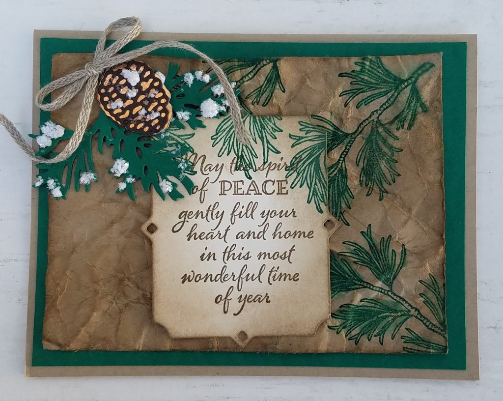 Peaceful Boughs stamp set, Frenchie Martin, StampingJill, Jill Olsen, Stampin' Up!