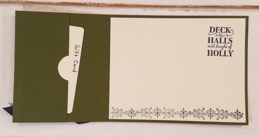 Gift Card Holder Idea StampingJill Jill Olsen Stampin' Up! Christmas