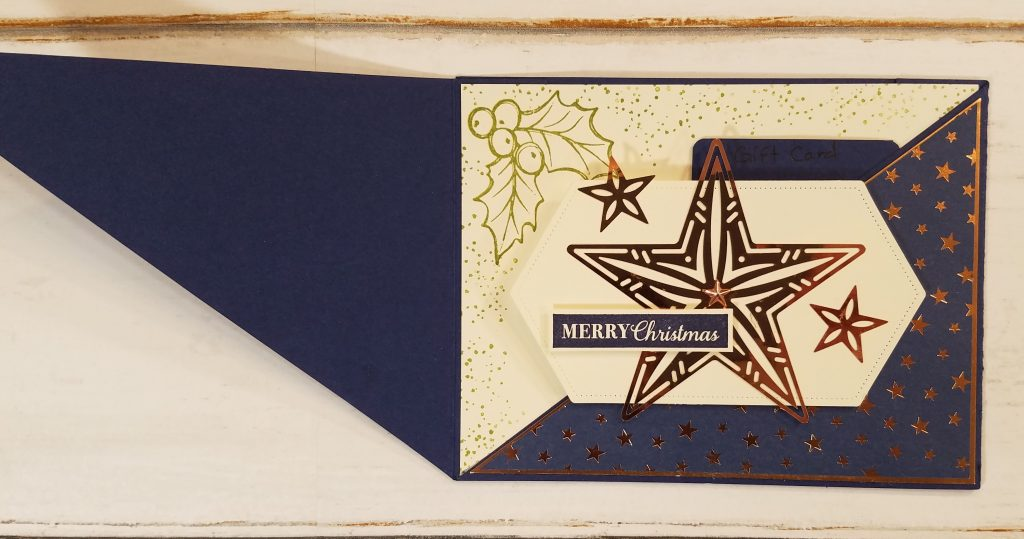 Gift Card Holder Idea Brightly Gleaming Designer Series Paper Jill Olsen StampingJill.com Christmas