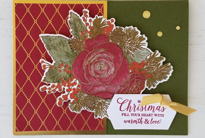 Christmastime is Here Suite Christmas Rose Bundle Roses Dies Gold Stampin' Up! Jill Olsen StampingJill