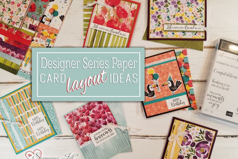 Designer Series Paper Card Layout Ideas