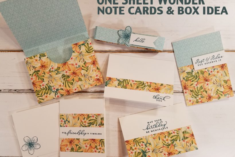 One Sheet Wonder Note Cards & Box Idea